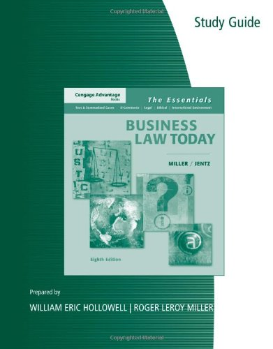 Download Business Law Today: The Essentials 032465457X
