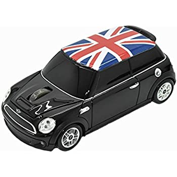 ミニクーパー mini cooper (Union Flag )イギリス国旗 無線カーマウス 2.4Ghz MINI-COPSU-BK ブラック