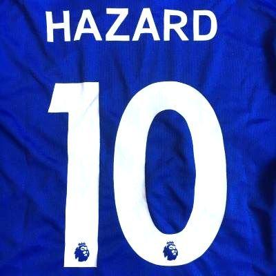 ≪クリックポスト≫大人用 A005 チェルシーHOME HAZARD*10 アザール 18 青 ゲームシャツ パンツ付
