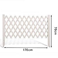 LIXIONG ボーダーフェンス ガーデンフェンスデコレーション 拡大する フェンス 木製 工場 柵 花 ベッド 端 にとって 植物 、 2色 (Color : White, Size : B-170x70cm)