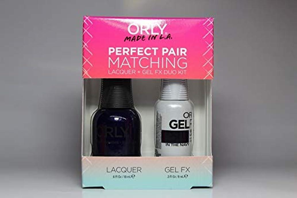 にじみ出る悲惨なフレキシブルOrly - Perfect Pair Matching Lacquer+Gel FX Kit - In The Navy - 0.6 oz / 0.3 oz