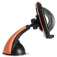 Fenteer 車載ホルダー フロントガラス/ダッシュボード 取り付け スマホホルダー 360度回転 全5色 - オレンジ