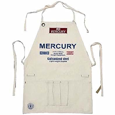 (マーキュリー) MERCURY ショートエプロン ワーク デニム アースカラー MESAWO カフェ キッチン雑貨 料理 エプロン キャンプ アメリカン雑貨 アウトドア キャンプ (ナチュラル) [並行輸入品]