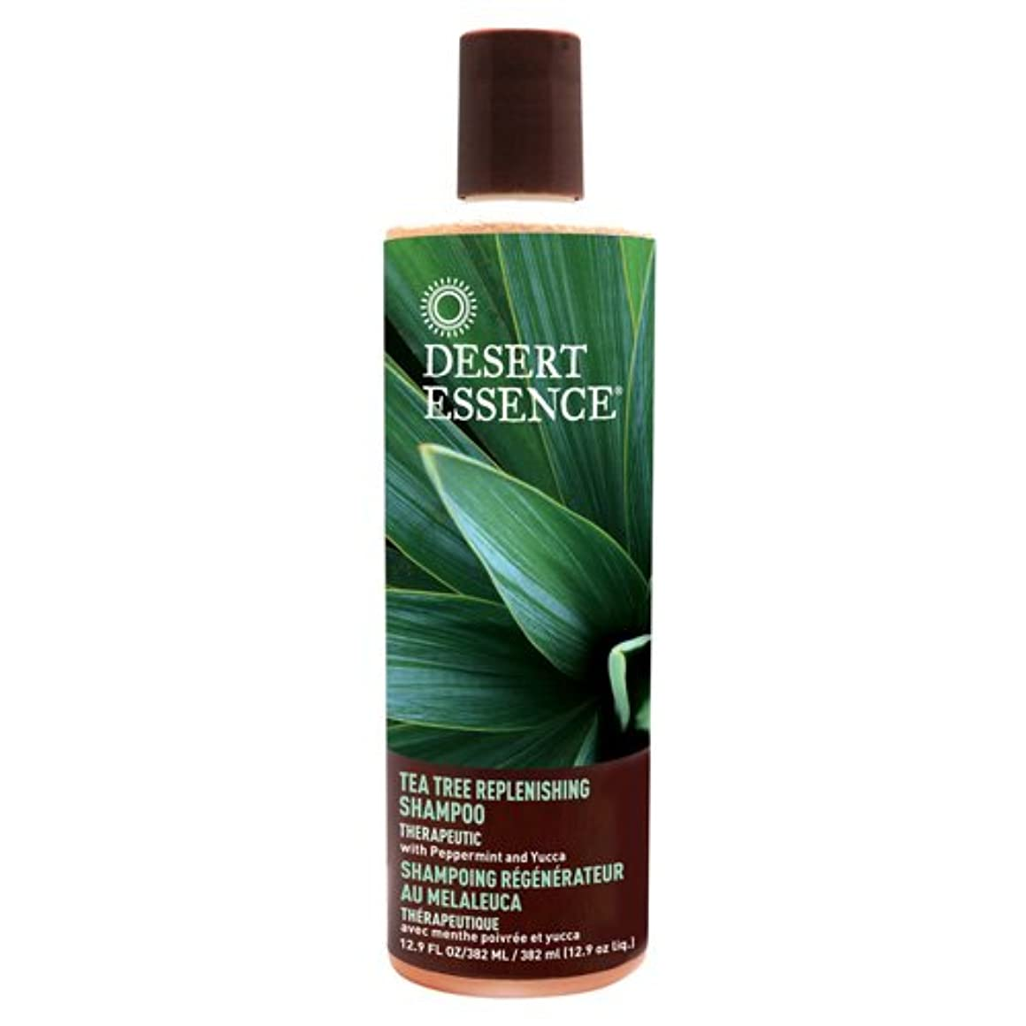 保持する失業者更新DESERT ESSENCE社 Tea Tree Replenishing Shampoo 12.9液量オンス