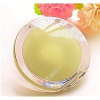 HuaQingPiJu-JP ミニラウンドシンプルなキャンディー小さなガラスの鏡サークル工芸装飾化粧品アクセサリー黄色