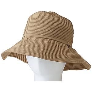 マーベラス クール ネオプラス チャーム付きつば広帽子 A-2 ベージュ つば9cm 頭周り56~57cm 178-8901A2BE