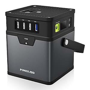 (アップグレード版)ポータブル電源 Poweradd ChargerCenter 185Wh / 50000mAh バックアップ用予備電源 キャンプ 車中泊 緊急・災害用 USB/AC / DC出力対応(5V/12V/19V/115V) 家庭用蓄電池 ACインバータ付き