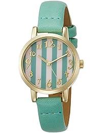 [フィールドワーク]Fieldwork 腕時計 ファッションウォッチ nattito レイエ 革ベルト グリーン QKS107-2 レディース 腕時計