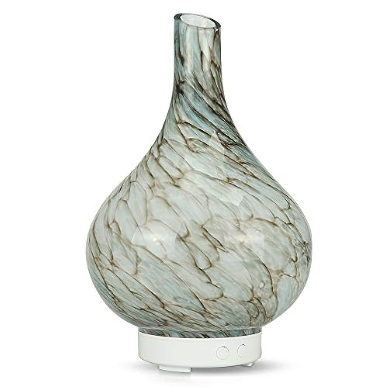 長いです花瓶活発Decdeal アロマディフューザー ミニ 加湿器 卓上 100ML エッセンシャルオイルディフューザー 7色LEDライト付き
