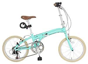 【Amazon.co.jp限定】JEFFERYS(ジェフリーズ) 折りたたみ自転車 20インチ AMADEUS Hunter Fox ライトグリーン 軽量アルミフレーム 約12.0kg シマノ6段変速 LEDライト/ワイヤーロック/スタンド 標準装備