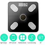 Roloiki APP BT Body Intelligent Fat Scales Solar-Power Weight Scale High Precision Family Body Health Care
