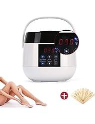 ポータブルワックスヒーター脱毛ウォーマーワックスウォーマー機温度制御可能なデジタル液晶ディスプレイ用女性男性無痛全身脱毛ニーズ,BritishStandardPlug