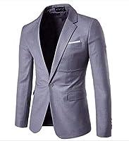 MANMASTER(マンマスター) メンズ 大きいサイズ カラージャケット 紳士服 テーラードジャケット 一つボタン ファッション 春秋 パーティー結婚式新郎舞台ステージホストお兄系 演出衣装お洒落コートCH302 (XL, ライトグレー)