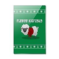 Fleece Feliz Navidad Sheepクリスマスホリデー長方形アクリル冷蔵庫冷蔵庫マグネット
