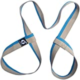 (Blue Light Brown) - Yoga Mat Strap - Carrying Sling - Durable Cotton - 3 Colours