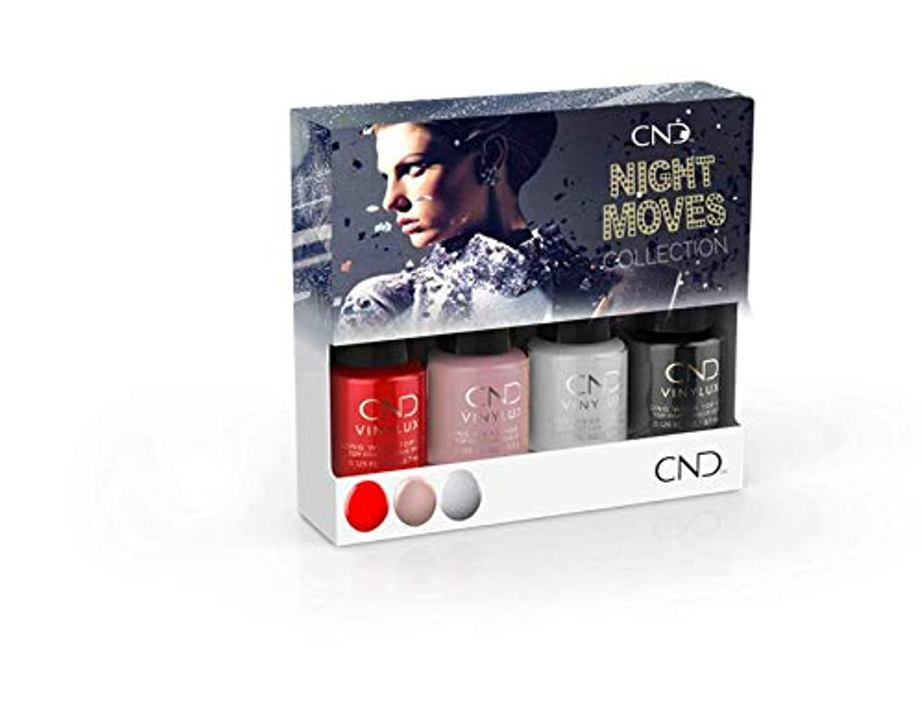 ぴったりアーサー受け取るCND Vinylux - Night Moves The Collection - Mini 4pk - 3.7 mL / 0.125 oz