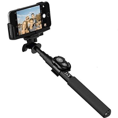 【GoPro・スマートフォン対応】 アルミ製軽量 高品質 自撮り棒 取外し可能なBluetooth対応ワイヤレスリモコン・取外し可能な三脚・GoPro対応マウントネジ付 三段階伸縮で最大長62cm iPhone iOS Android対応