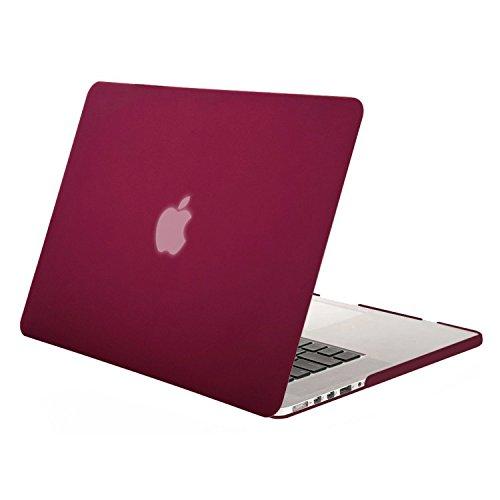 Mosiso -MacBook Pro Retina ディスプレイ13 インチ用(旧型)ハードケース シェルカバー (対応モデル:2012年[A1425]/2014年[A1502]?光学ドライブ無し) (ワインレッド)