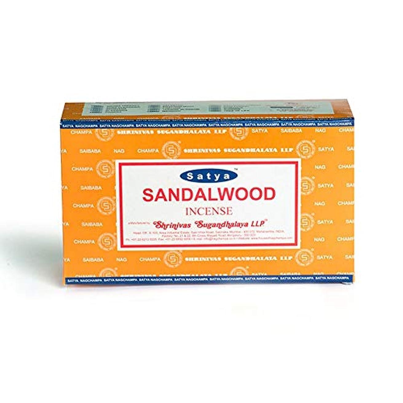 祖先頭痛スポークスマンSatya Nag Champa Sandalwood Incense Sticks - Box 12 Packs by Satya