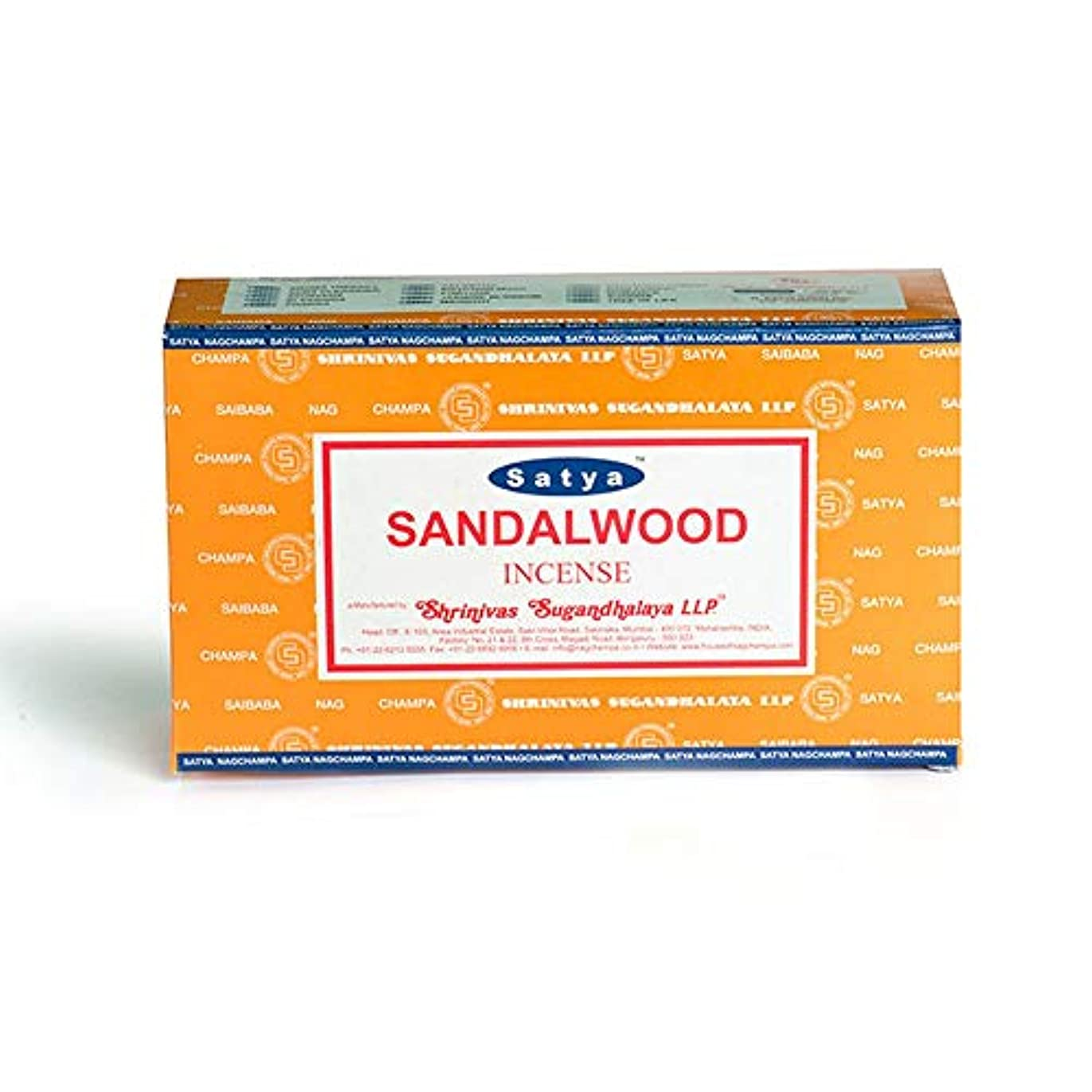 シティ嵐の公爵Satya Nag Champa Sandalwood Incense Sticks - Box 12 Packs by Satya