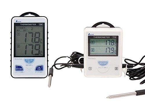 ワイヤレス温度計A 最高・最低 隔測式ツインプローブ 防水型 73241