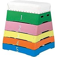 カラー5段とび箱 富士型カラー跳び箱?5段