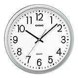カシオ計算機 壁掛け時計 スムーズ秒針 シルバー IQ-77-8JF
