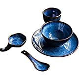 YASE-king Ceramic Bowl Hotel Restaurant Table Home Ceramic Dish Set Hotel Clubhouse Tableware Supplies Four Or Five Sets