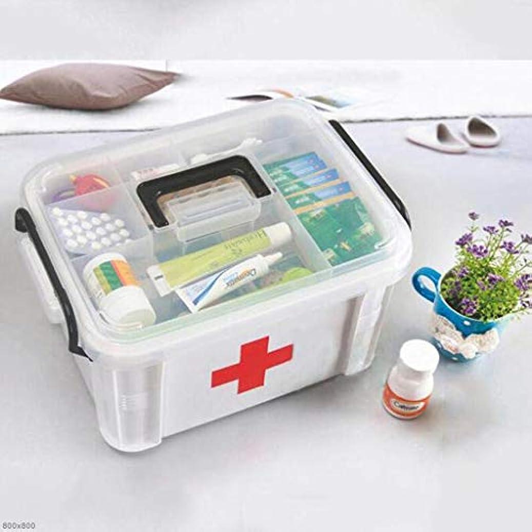 湖機動抑圧者KTYXDE 大家族薬箱プラスチック多層健康ボックス薬収納ボックス家庭用医療ボックス33×24×19センチ 薬収納ボックス
