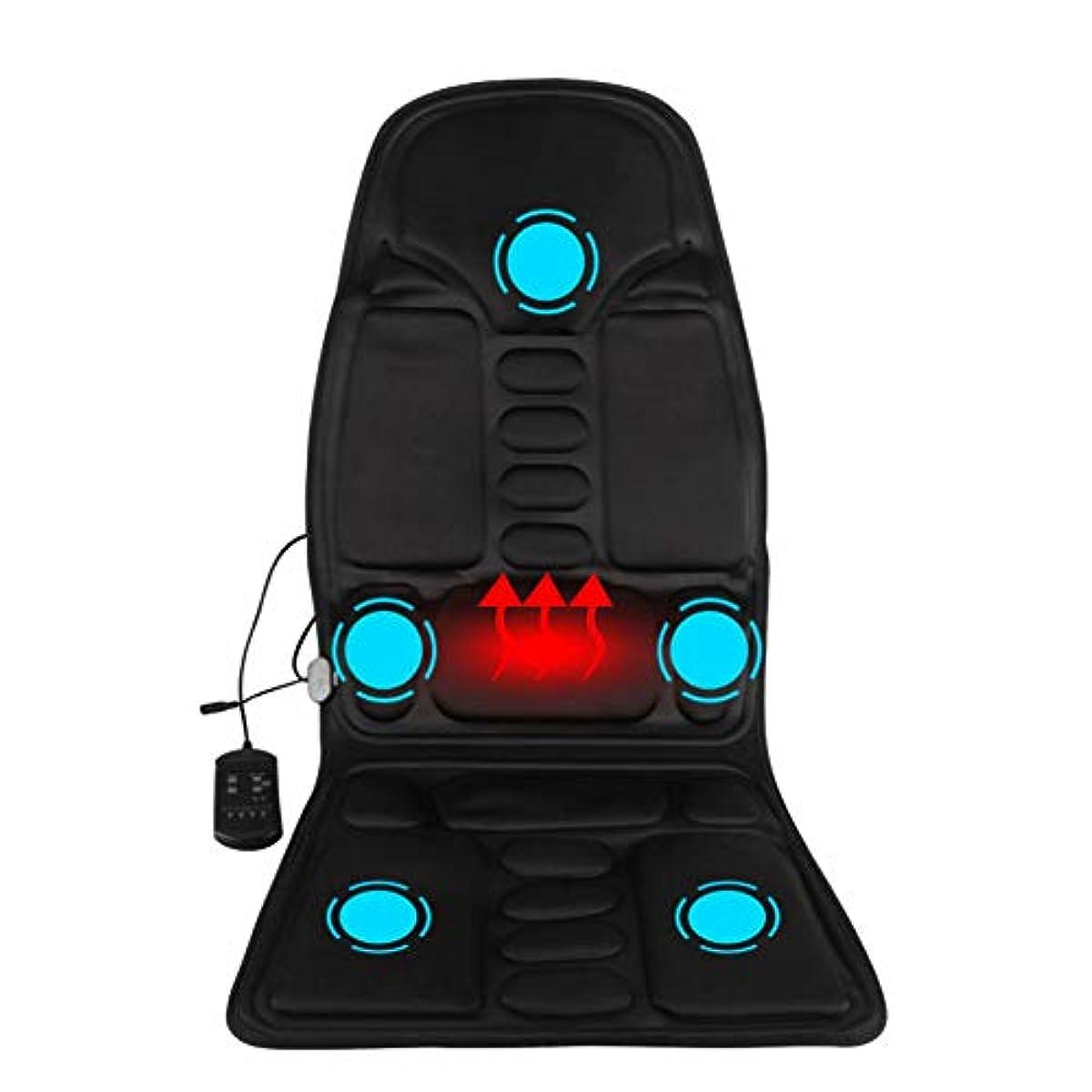 スケルトン遮るペチコートマッサージのあと振れ止めのクッション、車の総本店の5つの熱振動モーターを搭載する背部そして首全体のための携帯用マッサージャーの座席振動のマッサージ