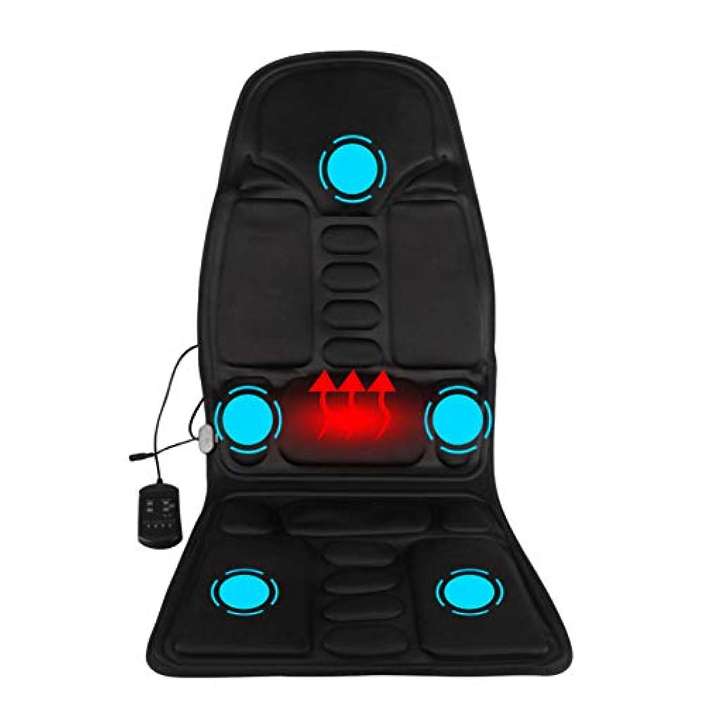 報復する新しい意味インシュレータマッサージのあと振れ止めのクッション、車の総本店の5つの熱振動モーターを搭載する背部そして首全体のための携帯用マッサージャーの座席振動のマッサージ
