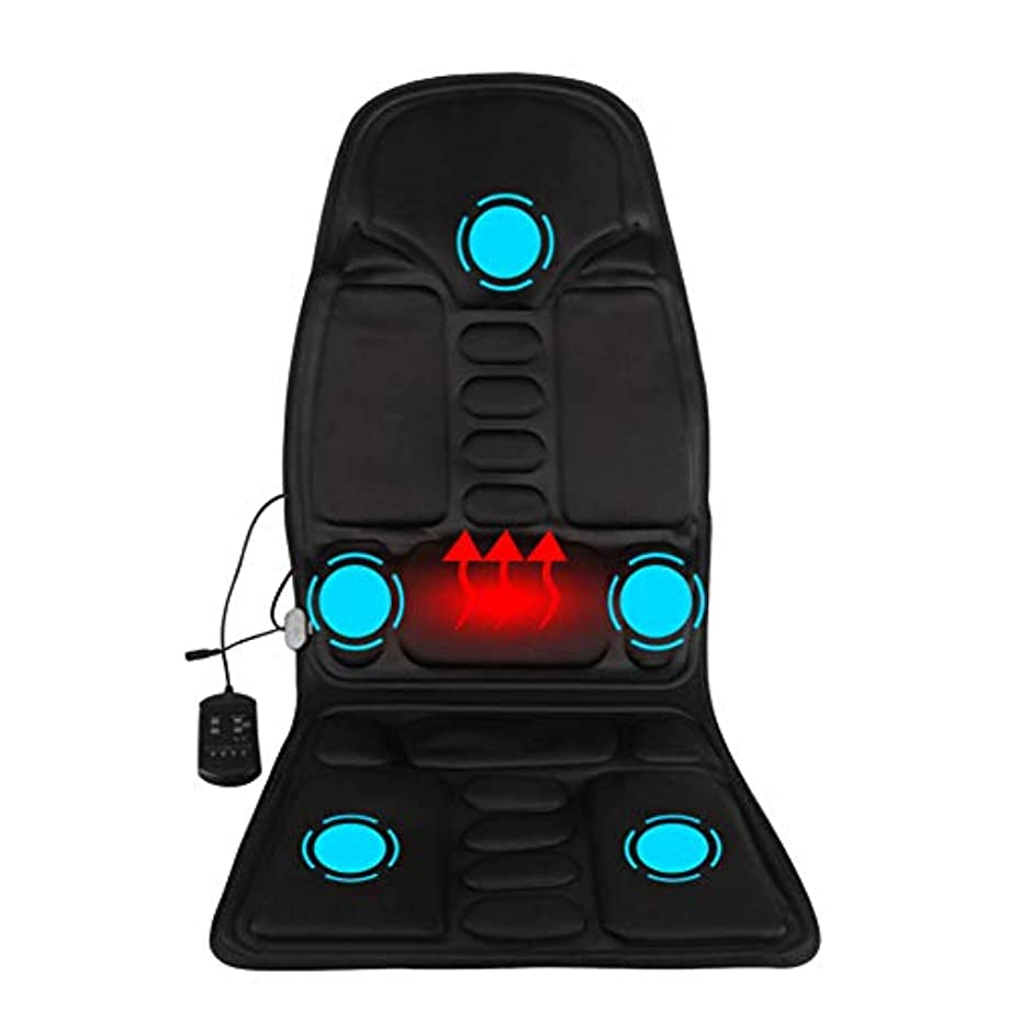 クラウド認証ネイティブマッサージのあと振れ止めのクッション、車の総本店の5つの熱振動モーターを搭載する背部そして首全体のための携帯用マッサージャーの座席振動のマッサージ