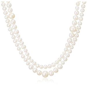[ピュアパール] pure pearl 淡水パール ロングネックレス ホワイト PP599739-WH