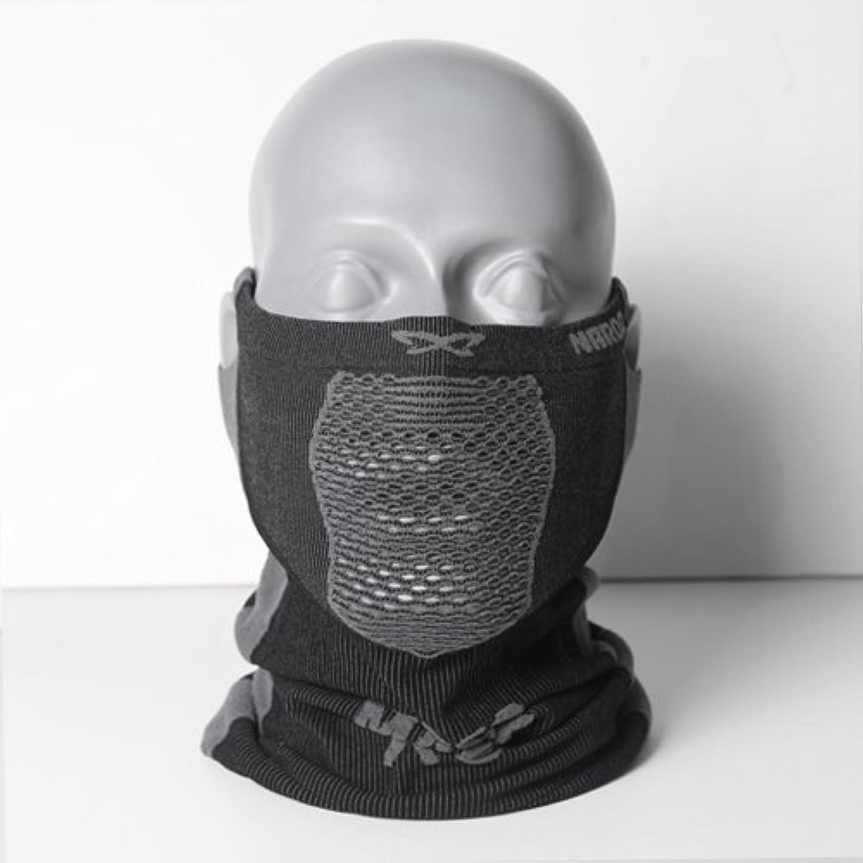NAROO MASK(ナルーマスク) X5 スポーツマスク フェイスマスク 防寒 スギ?ヒノキ花粉症対策 UVカット (ブラック)
