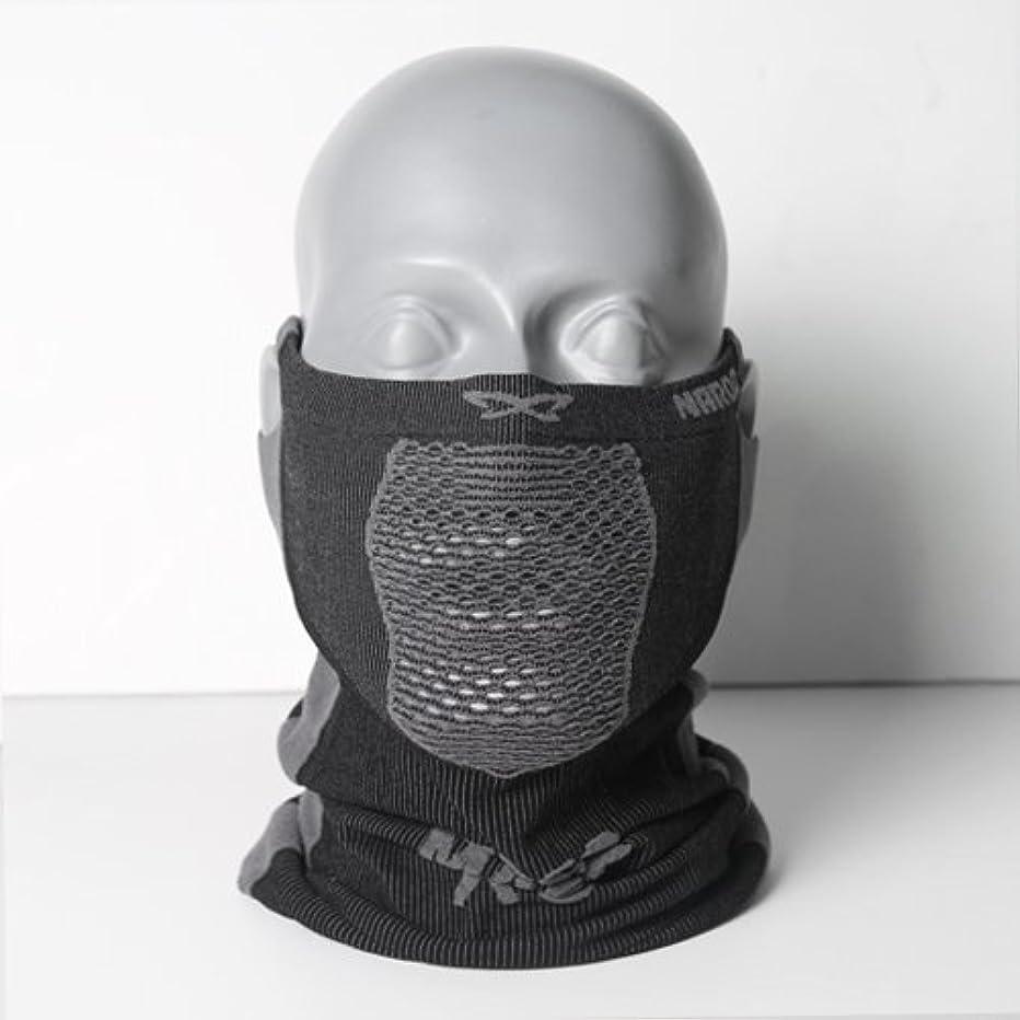 サイバースペース文句を言う勇気のあるNAROO MASK(ナルーマスク) X5 スポーツマスク フェイスマスク 防寒 スギ?ヒノキ花粉症対策 UVカット (ブラック)