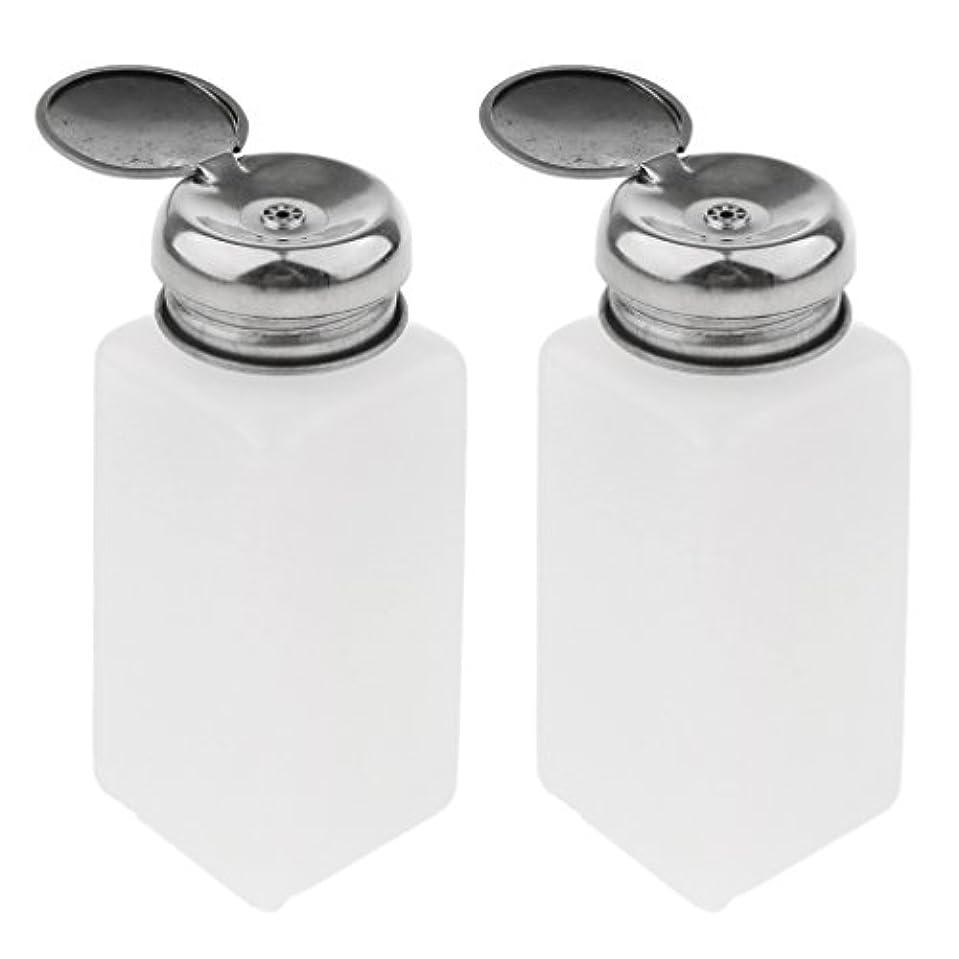 電気技師評議会誰Perfeclan 2個 プレスボトル マニキュア リムーバー ポンプ ディスペンサー プレスボトル 空の容器 - 250ミリリットル