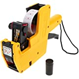 Dolity MX-5500 8 Digits Price Tag Gun Labeler, Especially Suitable for Small Business, Economical - Yellow