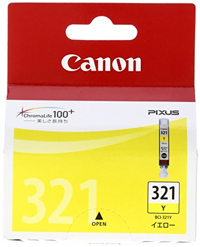 Canon 純正インクカートリッジ BCI-321 イエロー BCI-321Yの詳細を見る
