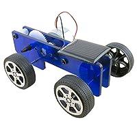 goupgolboll-DIYアセンブリミニソーラーパネルカー車モデルキッズ実験教育玩具 - ブルー