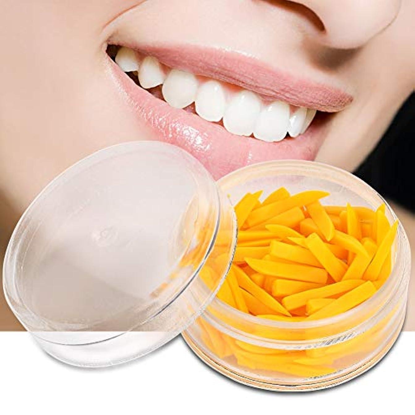 爆発均等にガイドDiastemaウェッジ、100個使い捨て歯科用固定ウェッジ、歯科用充填材