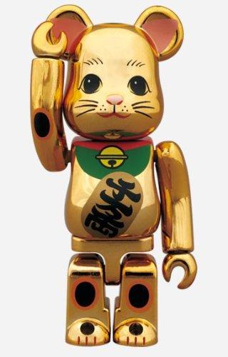 東京ソラマチ x 招き猫 金メッキ BE@RBRICK ベアブリック100%