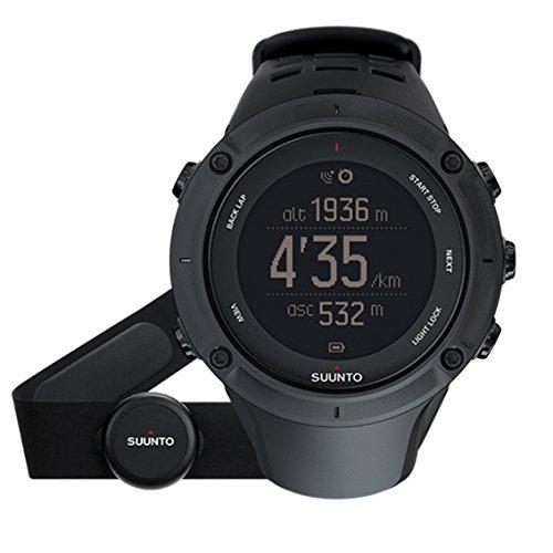 スント(SUUNTO) 腕時計 アンビット3 ピーク HR ブラック 10気圧防水 GPS 心拍/気圧/高度/方位/速度/距離計測 [日本正規品 メーカー保証2年] SS020674000