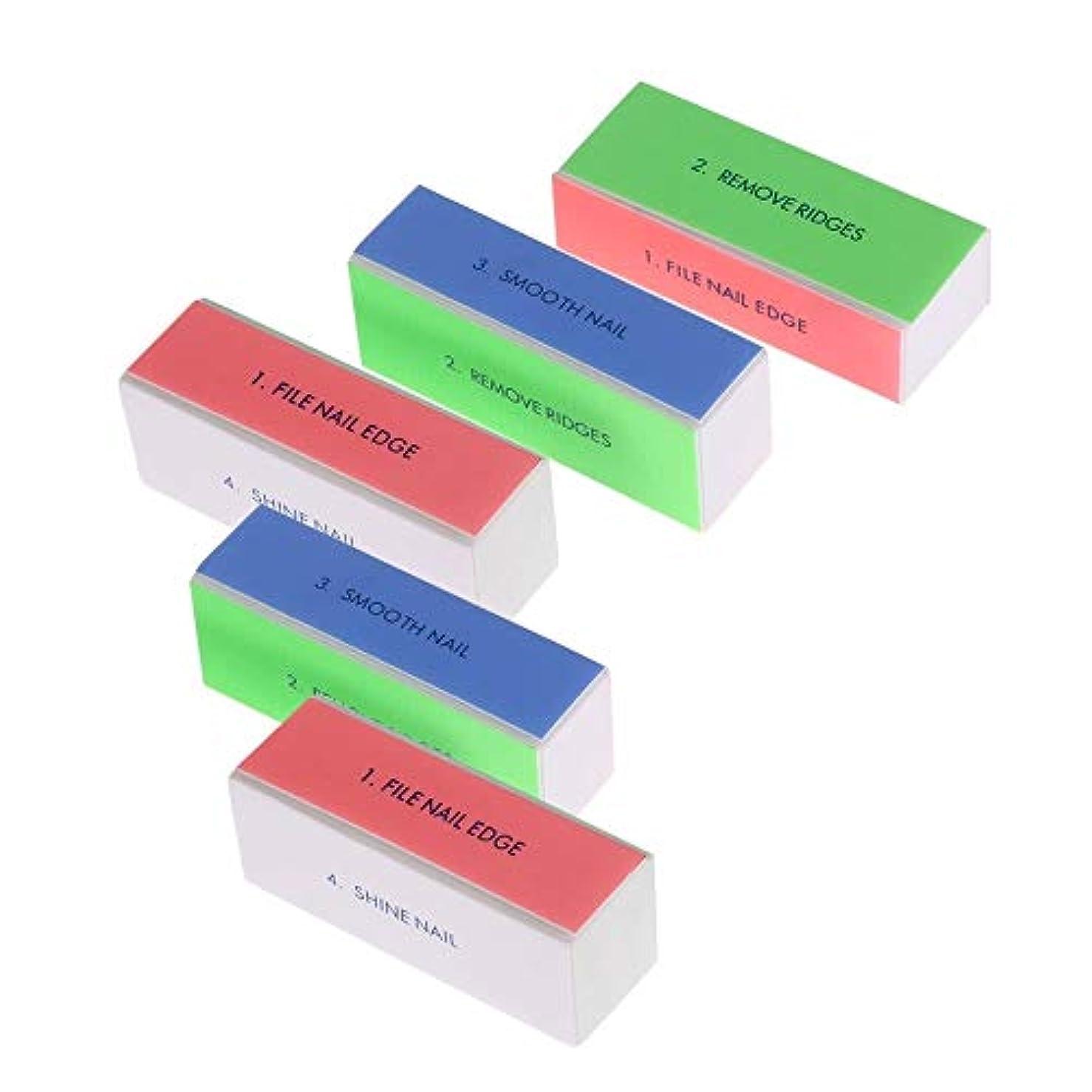 リテラシー論文ステートメントネイルアート 専用 5ピース 爪やすり 爪磨き 4面 10本 ブロックバッファー ネイルシャイン ネイルケア