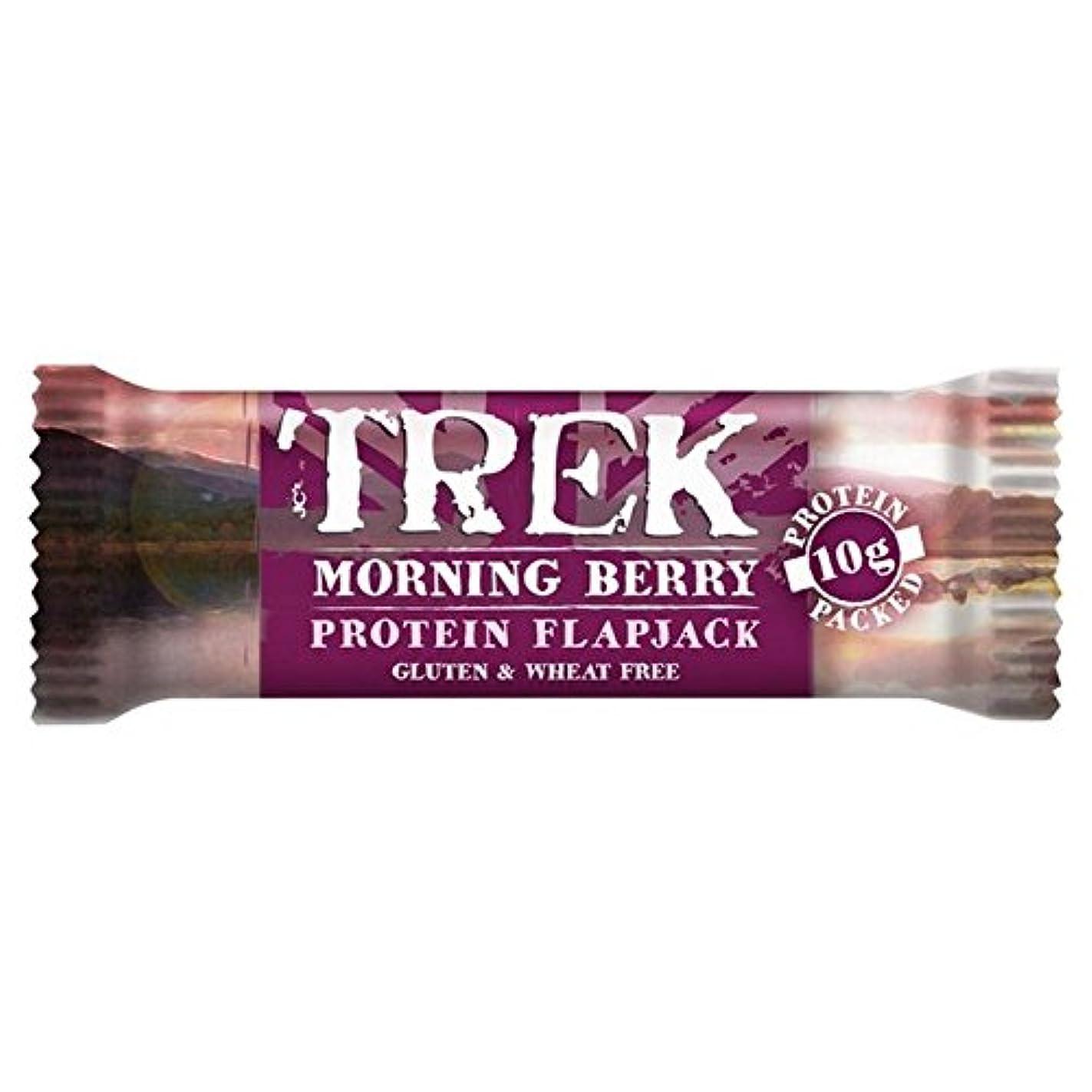 一貫したカウボーイ誕生(Trek (トレッキング)) 朝ベリーフラップジャックの50グラム (x4) - Trek Morning Berry Flapjack 50g (Pack of 4) [並行輸入品]