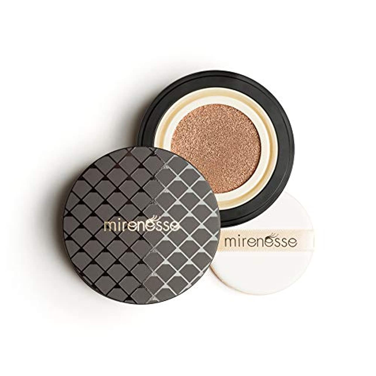 寸前ご予約頬骨Mirenesse Cosmetics 10 Collagen Cushion Foundation Compact Airbrush Liquid Powder SPF25 PA++ 15g/0.52oz - Shade...