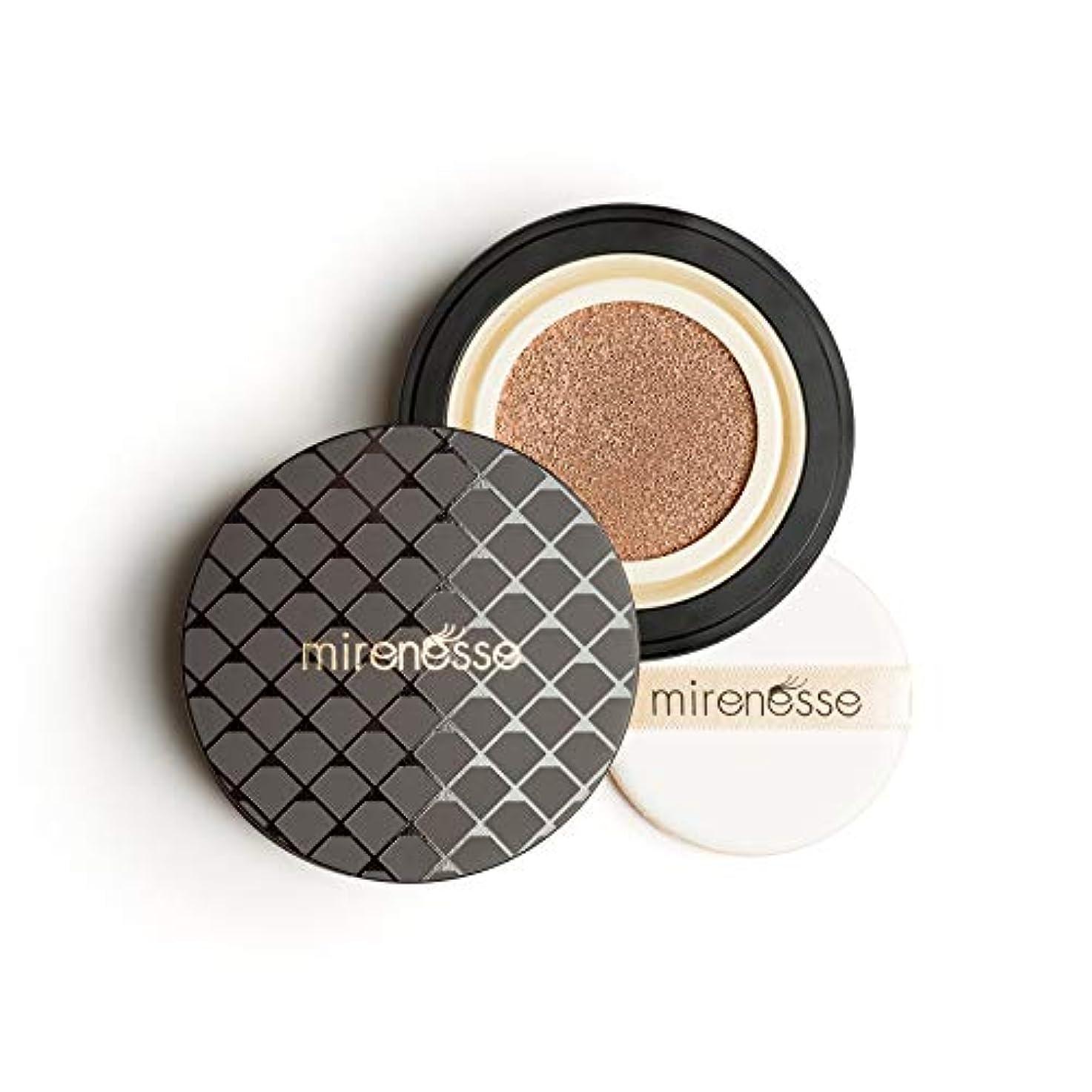 ダイヤモンド支配する銀行Mirenesse Cosmetics 10 Collagen Cushion Foundation Compact Airbrush Liquid Powder SPF25 PA++ 15g/0.52oz - Shade...