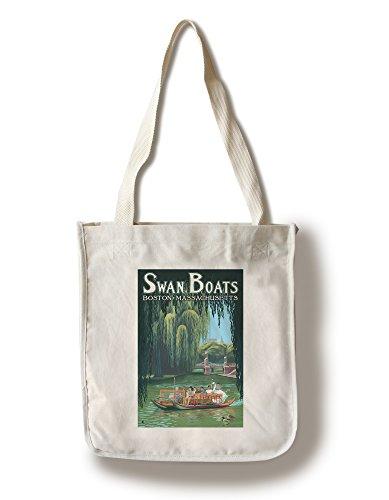 スワンボート–ボストン、MA Canvas Tote Bag LANT-20379-TT