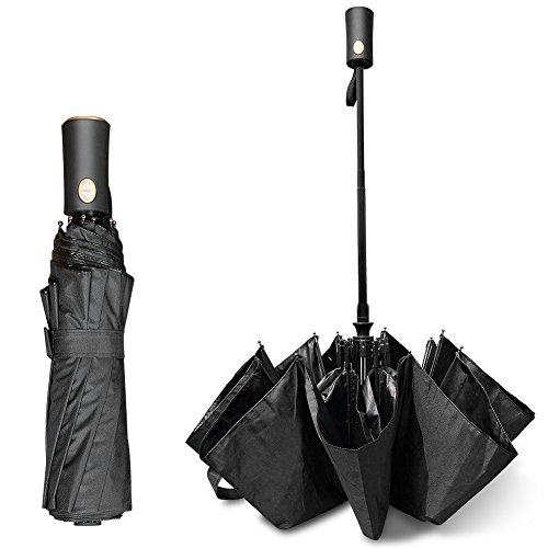 折りたたみ傘 三つ折り畳み傘 ワンタッチ自動開閉 日傘 錆び止めグラスファイバー  耐強風 晴雨兼用 十本骨 高強度カーボンファイバー 超軽量 耐強風 自動開閉 高級ファブリック片手操作 UVカット