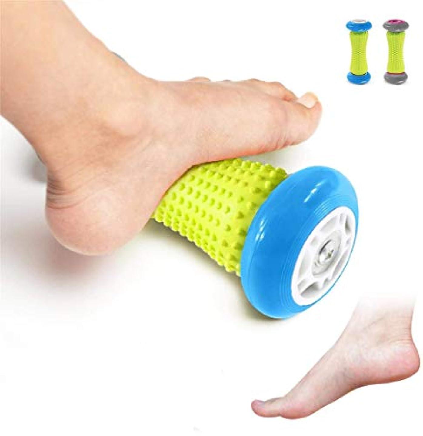 ローズ曲出会いフットマッサージローラー - 筋肉ローラースティック - 足底筋膜炎のための手首と前腕運動ローラー (Color : 青)