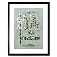 Sheet Music Lily Waltzes Slatter London Framed Wall Art Print 音楽ロンドン壁